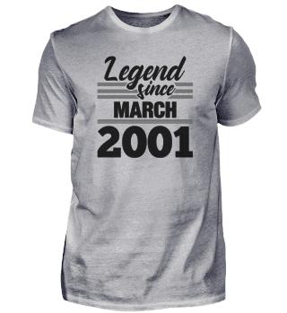 Legend Since March 2001