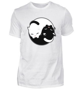 Cat - Yin Yang Cats Black and White