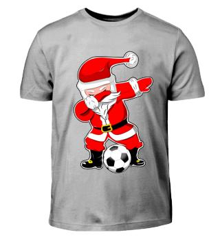 Weihnachtsmann Fussball Dabbing Tanz