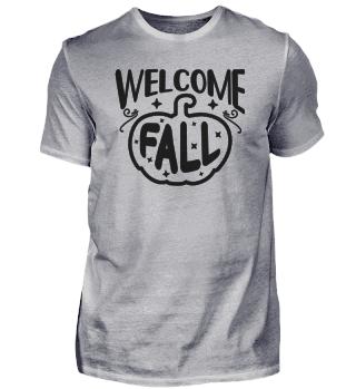 Welcome Fall Design für einen Herbst