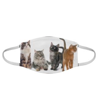 Gesichtsmaske mit Katzenmotiv 20.50