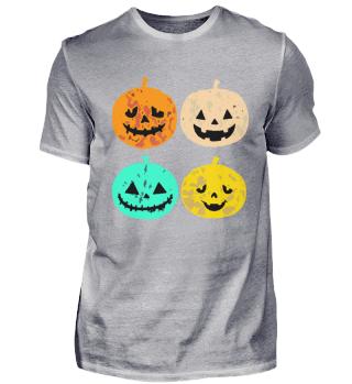 Vintage Kürbis TShirt lustiges Halloween