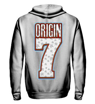 Herren Zip Hoodie Sweatshirt Origin 7 Ramirez