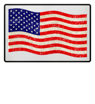 Flag of the United States grungy
