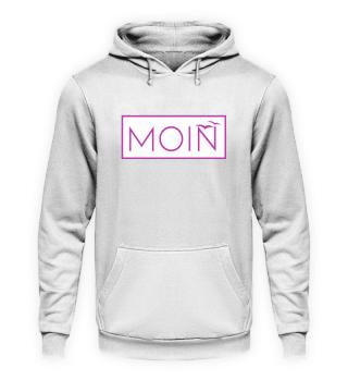 Moin Möwen weiß/lila Hoodie