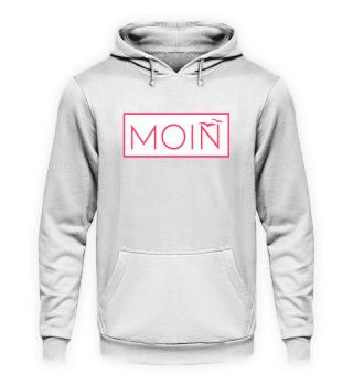Moin Möwen weiß/rot Hoodie