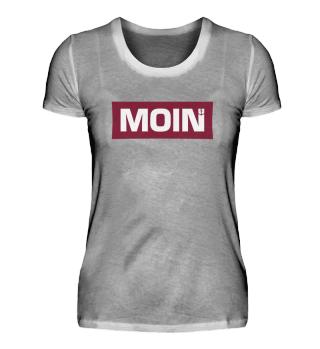 Moin boxed bordeaux Damen Shirt