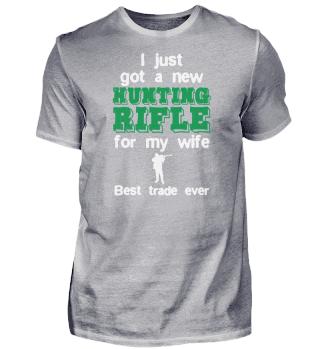 Funny hunter buzz. Hunting gun.