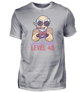Level 40 Gaming birthday gift