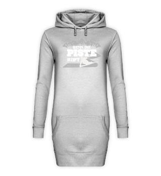 Ski Hoodie Kleid Wenn die Ski Piste ruft