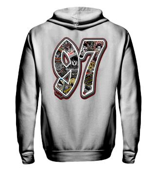 Herren Zip Hoodie Sweatshirt 97 Ramirez