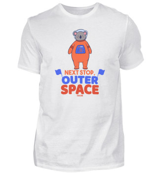 Koala als Astronaut im Weltraum
