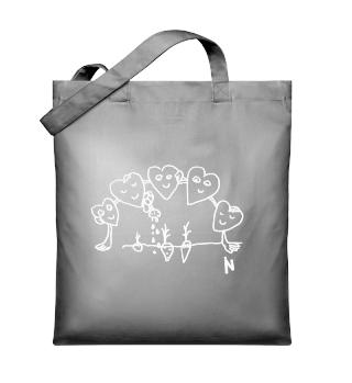 Hearts white - Organic Tote-bag