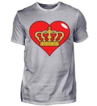 Herz Krone Majestätisch König Königin