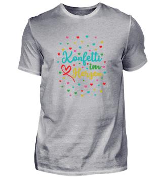 Konfetti im Herzen Shirt Design