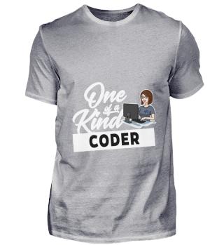 D001-0571A Female Coder Programmiererin