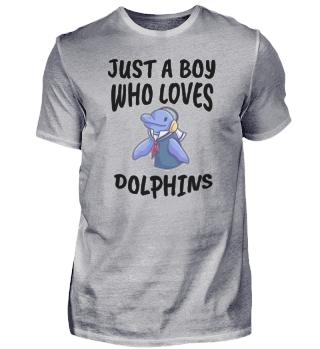 Junge liebt Delfin
