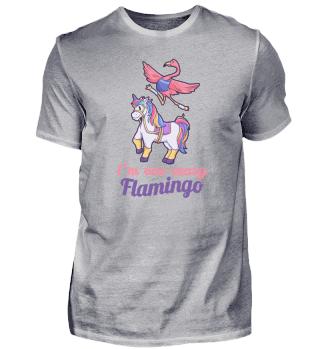 Flamingo reitet Einhorn Mädchen Geschenk