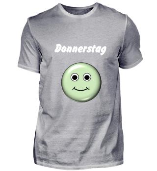 Stimmungs-Shirt Donnerstag, dunkel