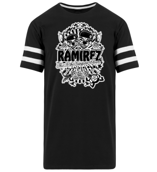 Herren Kurzarm T-Shirt Gangster Clown BW Striped Ramirez