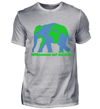 Willkommen auf Erde Shirt mit Elefanten