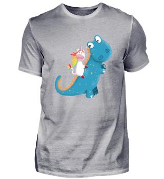 Einhorn Reitet T Rex Dinosaurier I Comic