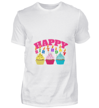 Happy Birthday Candles Cupcakes - Gift I