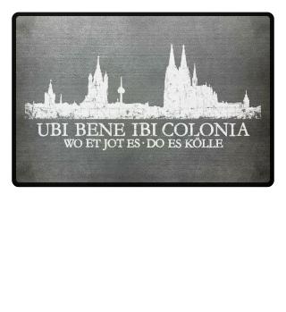 Ubi Bene Kölner Skyline - Fußmatte