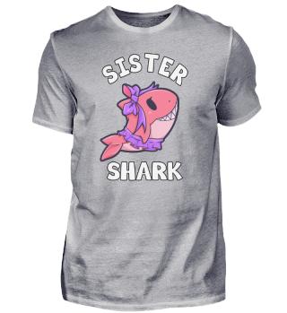 Schwester Shark Tochter Mädchen Kind Hai