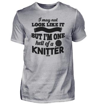 funny knitting crochet saying for Grandm