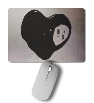 Herz LIEBE Love schwarz Mousepad Valentinstag