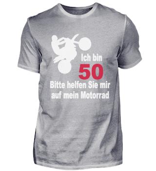 50. Geburtstag T-Shirt Biker Motorrad