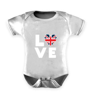 I love LOVE England United Kingdom Flag
