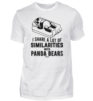 süßer Pandabär Bett Schlaf faul