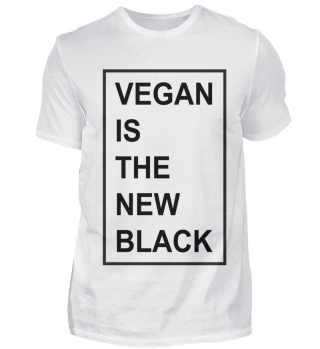 Vegan is the new black slogan