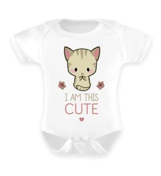 I am this cute! Anime Cat Babystrampler