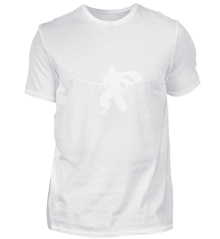 Ninja Samurai Schatten (Weiß)