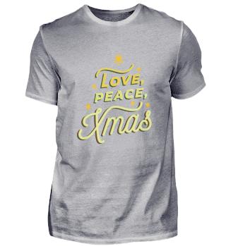 LOVE PEACE Chistmas Shirt