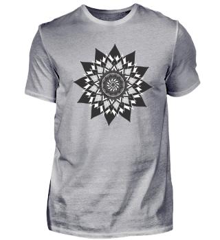 Mandala / Muster Schwarz-Grau
