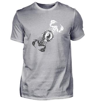 Yin Yang Scorpion Motiv men woman