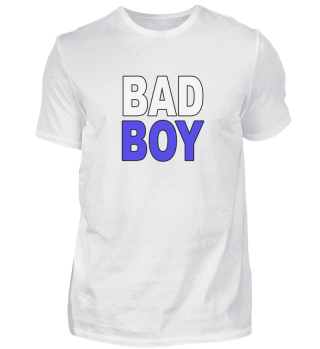 Bad Boy Statement Blau Sohn