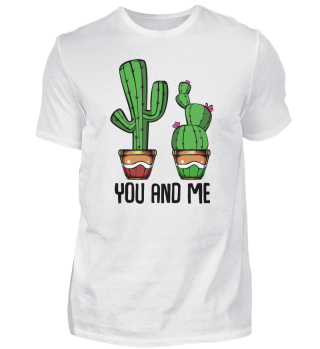 Funny Cactus You and Me Romantic