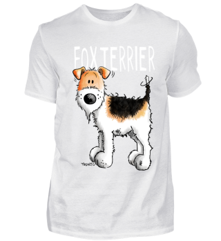 Lustiger Foxterrier I Fox Terrier Hund