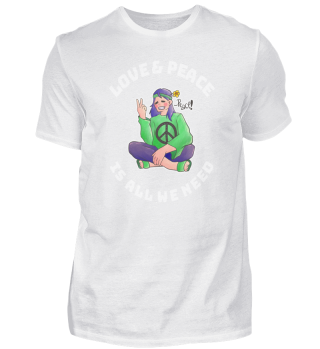 Hippie Love Peace colorful gift