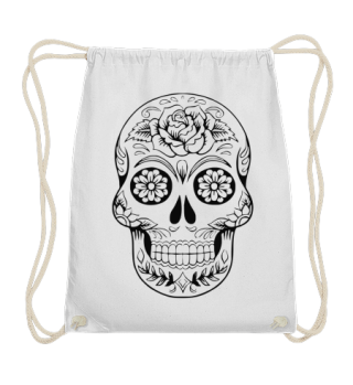 Gothic Rose Sugar Skull - black