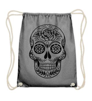 Gothic Rose Sugar Skull - black