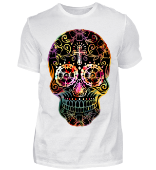 Funny Mexican Sugar Skull cross