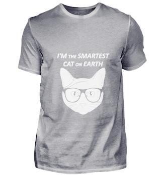 Katze Intelligent Brille Lustige Sprüche