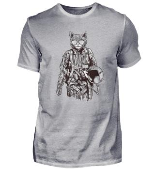Militär Katze Humor Offizier Lustig
