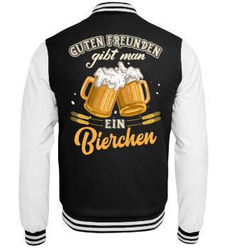 Bier Spruch Party Freundschaft Jacke